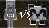 我的世界:骷髅vs熊猫
