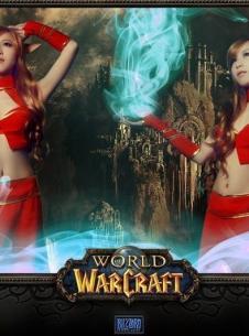 《魔兽世界》美女玩家唯美血精灵