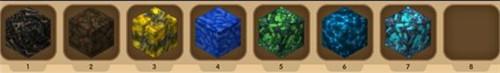迷你世界矿石分布 矿石分布图1