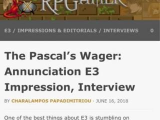 美国媒体评帕斯卡契约:E3才有的惊喜之作