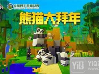 我的世界联动长隆野生动物园 熊猫拜大年