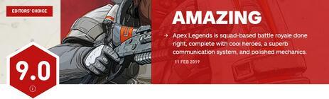 《Apex英雄》全球媒体评分解禁,好评连连!2