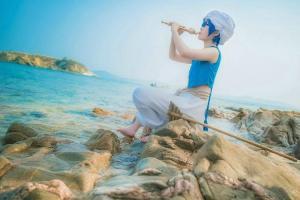 魔笛MAGI阿拉丁海边写真